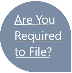 A star asking if you're required to file